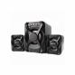Тонколони Kisonli U-2500BT, Bluetooth, 5W+3W*2, USB, Черен
